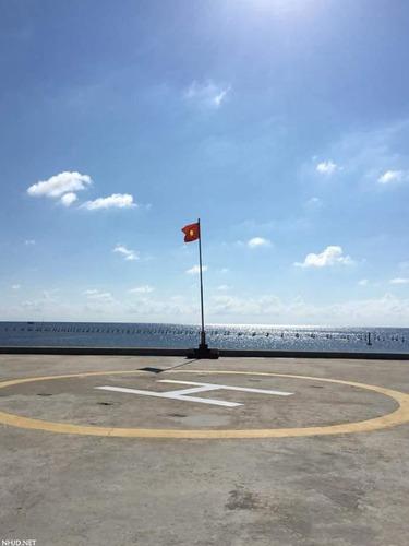 越南在南沙毕生礁填海造陆