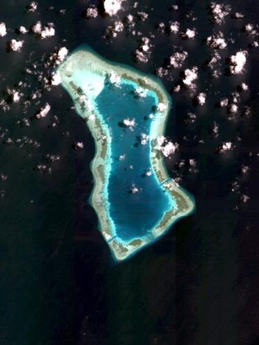 填海造陆新目标<br>南华礁最新高清照曝光
