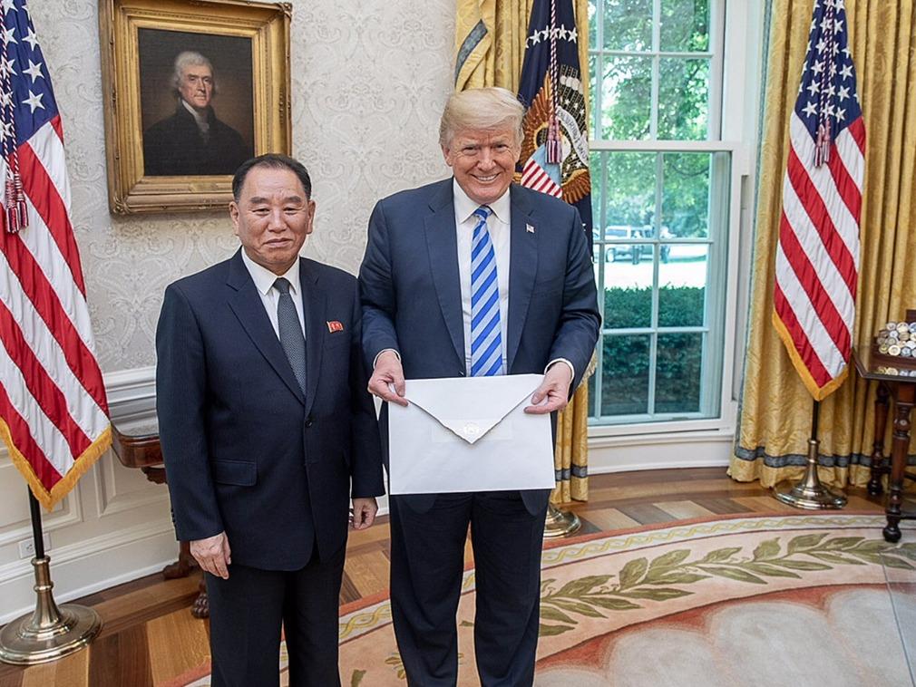 金英哲曾亲手向特朗普转交金正恩的信件