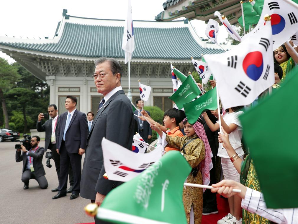 沙特王储抵韩访问 韩国有意参与沙特的核能项目[图集]